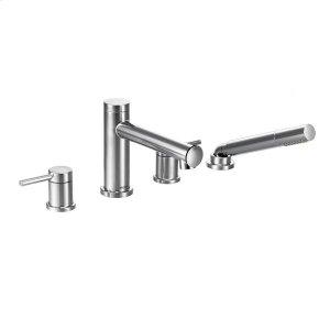 Align chrome two-handle roman tub faucet includes hand shower Product Image