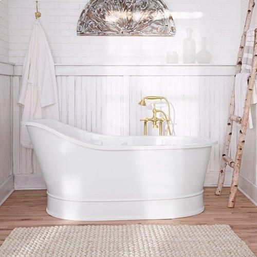 Oak Hill Freestanding Soaking Tub - Canvas White