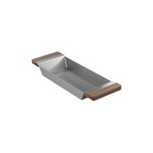 Colander 205036 - Walnut Fireclay sink accessory , Walnut