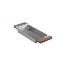 Colander 205036 - Walnut Fireclay sink accessory , Walnut