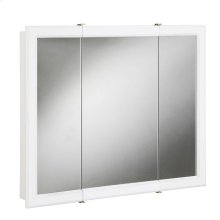 """Concord Tri-View Medicine Cabinet Mirror 30"""", White #531434"""