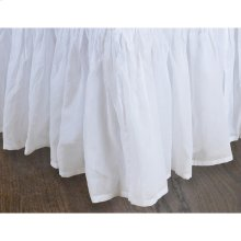 "King 18"" White Organdy Bedskirt 100% Cotton"
