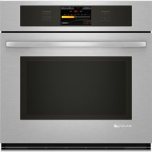 """Single Wall Oven with V2™ Vertical Dual-Fan Convection System, 30"""", Euro-Style Stainless Handle"""