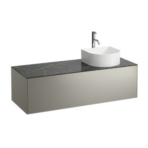 Gold & Nero Marquina Drawer element, 1 drawer, matching bowl washbasins 812340, 812341, 812342, 812343, cut-out right, incl. drilled tap hole Product Image