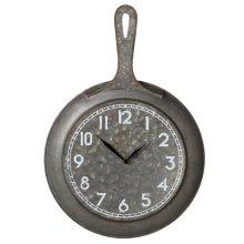 Galvanized Frying Pan Wall Clock