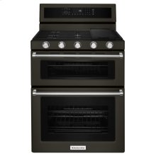 30-Inch 5 Burner Gas Double Oven Convection Range - Black Stainless Steel with PrintShield™ Finish