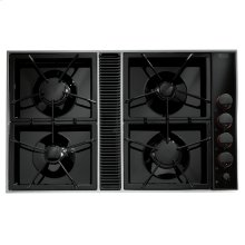 """Expressions™ Collection Gas Downdraft Cooktop, 34"""", Black"""