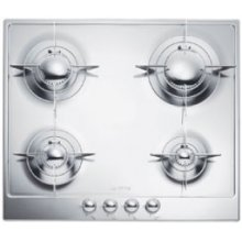 """60CM (approx 24 ) """"Piano Design"""" Gas Cooktop, Polished Stainless Steel*"""