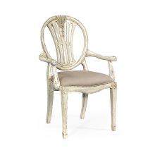 Hepplewhite wheatsheaf armchair (Off-white)