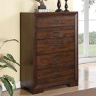 Riata - Five Drawer Chest - Warm Walnut Finish Product Image
