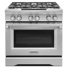 36'' 6-Burner Dual Fuel Freestanding Range, Commercial-Style - Stainless Steel