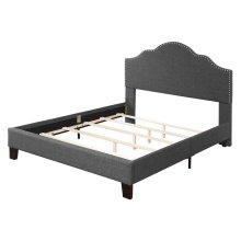 Upholstered 6/6 King Headboard-footboard & Rails-charcoal#jsy2611-38