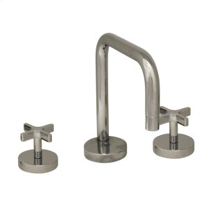 Metrohaus lavatory widespread faucet with swivel spout, cross handles and pop-up waste. Product Image