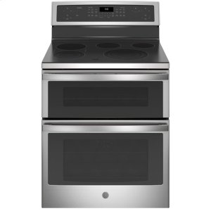 """GE Profile™ 30"""" Free-Standing Electric Double Oven Convection Range Product Image"""