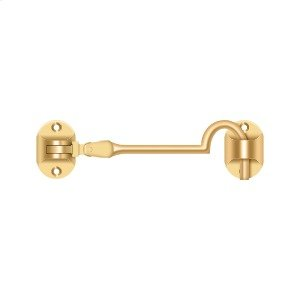 """Cabin Hooks, British Style, 4"""" - PVD Polished Brass Product Image"""