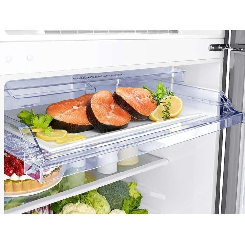 21 cu. ft. Top Freezer Refrigerator with FlexZone in Stainless Steel