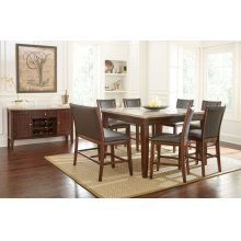 """Eileen Marble Top Counter Table 54"""" x 54 """" x 36"""""""