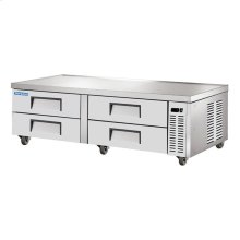 "72"" Stainless Steel Chef Base Refrigerator"