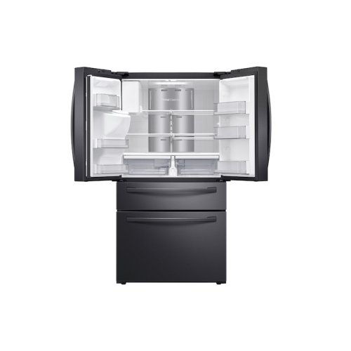 28 cu. ft. 4-Door French Door Refrigerator with Touch Screen Family Hub in Black Stainless Steel