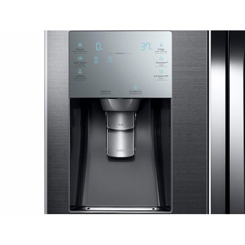 28 cu. ft. 4-Door Flex Refrigerator with FlexZone in Black Stainless Steel