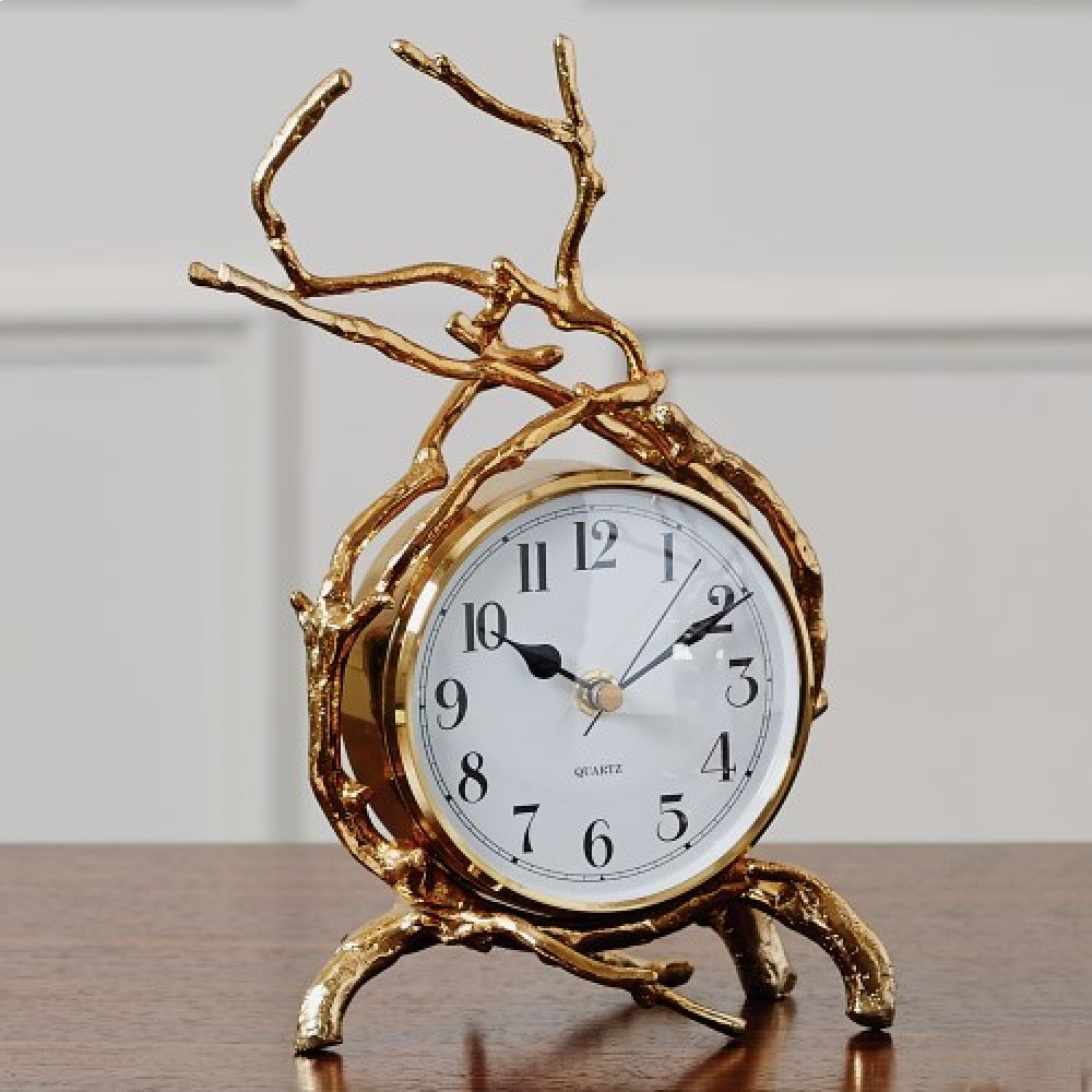 Twig Clock-Brass