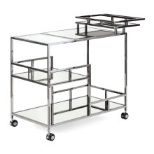 TY Tribute Black Plated Bar Cart