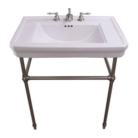 """Drew 30"""" Console with Brass Stand - Single-Hole / Polished Brass"""