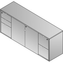 "Kenwood Storage Credenza 72""x20""x29"""