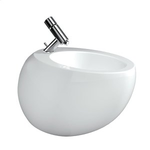 White With LCC (Laufen Clean Coat) Wall hanging bidet, with concealed overflow, incl. ceramic waste cover Product Image