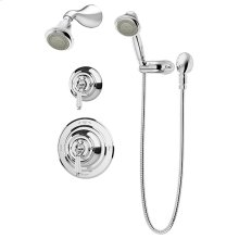 Symmons Carrington® Shower/Hand Shower System - Polished Chrome