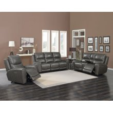 "Laurel Pwr-Pwr Console Loveseat Grey, 75""x40""x40"""