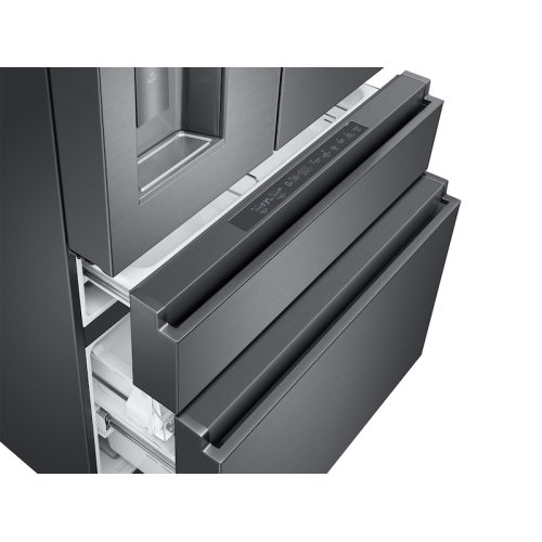 23 cu. ft. Counter Depth 4-Door French Door Refrigerator in Black Stainless Steel