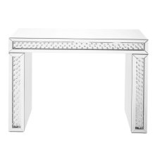 43.5 inch Rectangle Crystal Console Table in Clear Mirror Finish