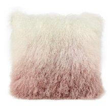 Tibetan Sheep Pillow White to Blush
