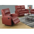 RECLINING CHAIR - SWIVEL GLIDER / RED BONDED LEATHER Product Image