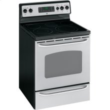 """GE® 30"""" Free-Standing Electric Range (This is a Stock Photo, actual unit (s) appearance may contain cosmetic blemishes. Please call store if you would like actual pictures). This unit carries our 6 month warranty, MANUFACTURER WARRANTY and REBATE NOT VALID with this item. ISI 33358"""