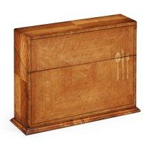Rectangular Satinwood & Cutlery Inlay Placemat Box