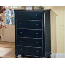 Media Chest Rustic Black