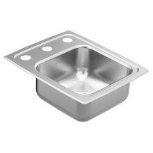 """1800 Series 13""""x17"""" stainless steel 18 gauge single bowl drop in sink"""