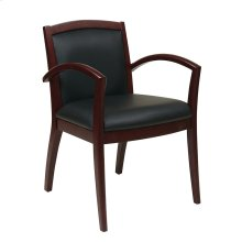 Napa Mahogany Guest Chair With Full Cushion Back