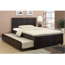 F9214F / Cat.19.p108- FULL BED W/TRUNDL W/SLATS ESP