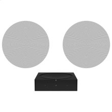 Black- Architectural sound with Amp and Sonos In-Ceiling by Sonance