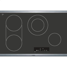 30' Electric Cooktop 800 Series - Black with Stainless Steel Frame