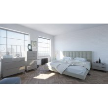 Modrest Hera Modern Grey Bedroom Set