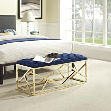 Intersperse Bench in Gold Navy