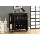 """HOME BAR - 36""""H / CAPPUCCINO WITH BOTTLE / GLASS STORAGE Product Image"""