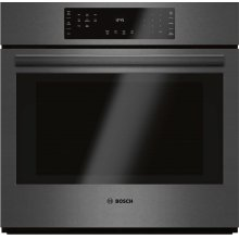 800 Series Single Wall Oven 30'' Black stainless steel HBL8442UC