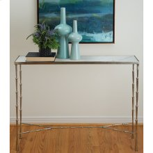 Spike Console-Antique Nickel w/White Marble Top