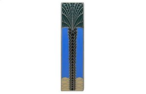 Royal Palm (Vertcal) - Antique Pewter/Periwinkle Product Image