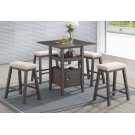 DERBY COUNTER TABLE & 4 STOOLS ALL IN ONE Product Image